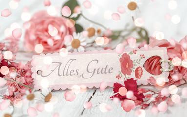 Hintergrund Karte Alles Liebe Alles Gute Wunsch Grußkarte