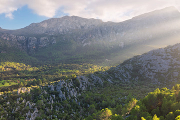Landscape with valley and mountains, Mallorca