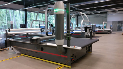 CNC machine for cutting fabrics textile materials and leather