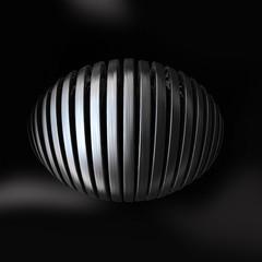Globe metal silver vertical