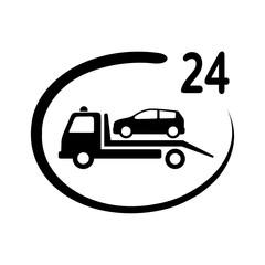 Obraz samochód auto pomoc całodobowa ikona - fototapety do salonu