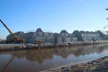 Construction of new residential district Esse Zoom Laag in NIeuwerkerk aan den IJssel in the Netherlands