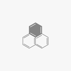 Vector honey comb and beekeeping logo design. Bees wax logotype from chemical formulas of anthracene