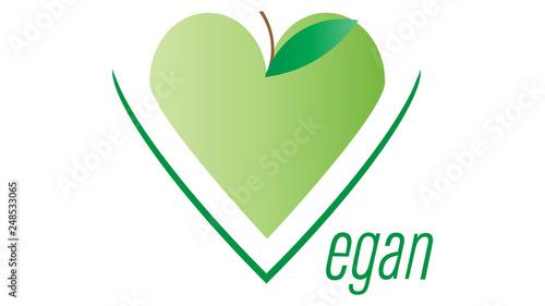 Vegan icon  Vegan logo vector design