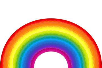 Wavy abstract rainbow