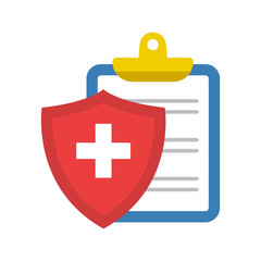Colored medical insurance icon. Vector illustration