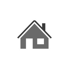 Home vector icon. House icon. Estate icon. Minimalist style. Vector home. House vector. White background.