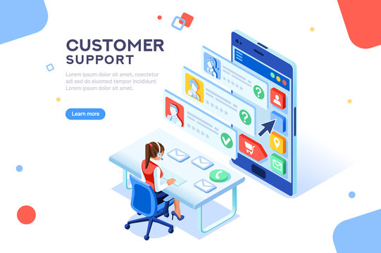 Customer Support Concept Vector
