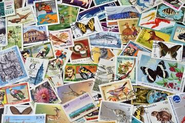 Kolorowe znaczki Fototapete