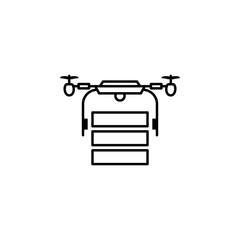 copter, drone, transportation, delivery icon. Element of quadrocopter icon. Thin line icon for website design and development, app development. Premium icon