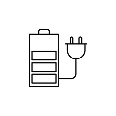 charger, battery, quadcopter, drone icon. Element of quadrocopter icon. Thin line icon for website design and development, app development. Premium icon