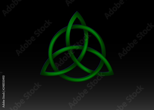 Triquetra logo, Trinity Knot, Wiccan symbol for protection