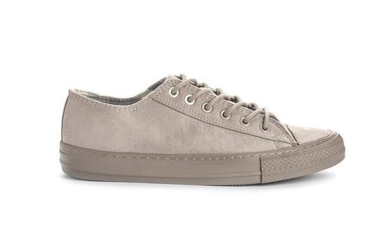 Stylish sneaker on white background. Trendy footwear