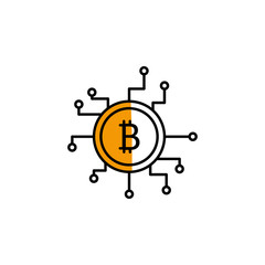 bitcoin, cryptocurrency, money, finance icon. Element of color finance. Premium quality graphic design icon. Signs and symbols collection icon for websites