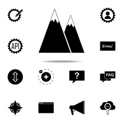 the mountains icon. web icons universal set for web and mobile