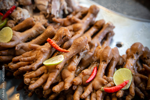 Steamed Chicken Feet Street Food Stock Photo And Royalty Free