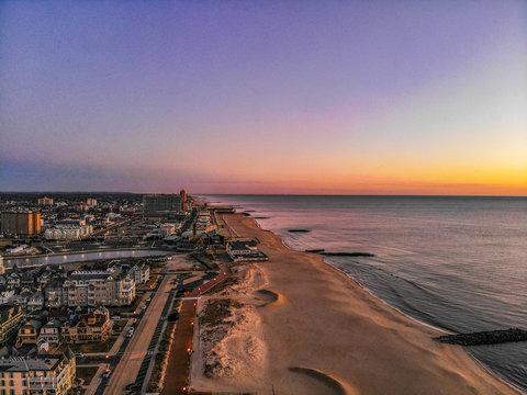 Asbury Park New Jersey Boardwalk Sunrise Aerial Photo