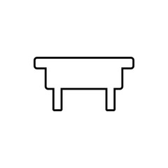 table glyph icon. Element of Furniture for mobile concept and web apps icon. Thin line icon for website design and development, app development