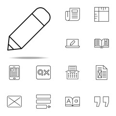 editorial, pencil tool icon. editorial design icons universal set for web and mobile
