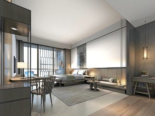 3d render of cozy bedroom