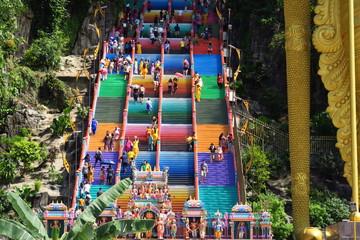 Escalier monumental coloré grotte de Batu