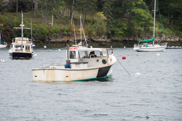 Maine lobster fishing boat