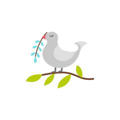 Bird icon flat illustration