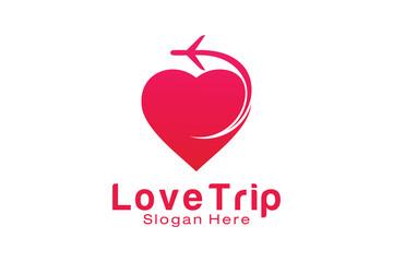 Love Trip Travel Logo Design Template