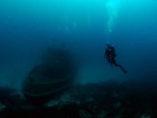 Scuba Diving Malta - Tug 2 at Sliema, Exiles Beach