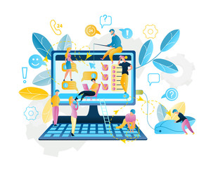 Illustration Online Service Shopping in Internet