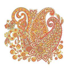 Paisley Floral oriental ethnic Pattern.  Arabic Ornament