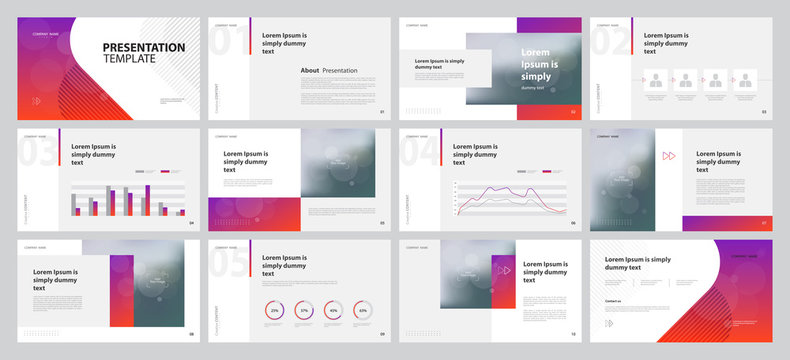 business presentation design template with page layout design for brochure , annual report , portfolio, book , company profile , and  proposal with info graphic elements
