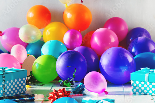 Birthday Party Background Decoration Balloon Confetti Serpentine