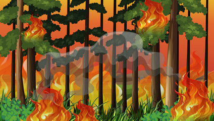 A wildfire disaster background