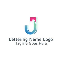 Lettering J Vector