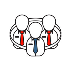 Team Work icon   Business and Finance - with Outline Filled Style