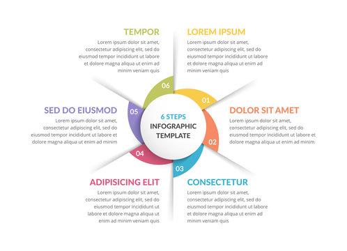 Circle Diagram - Six Elements