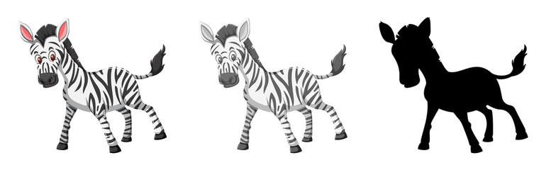 Set of zebra character
