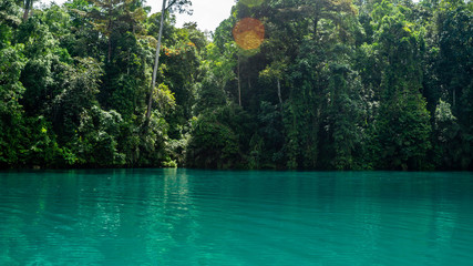 Labuhan Cermin, beautiful lake with two layer of water, freshwater  on the top and saltwater in the bottom
