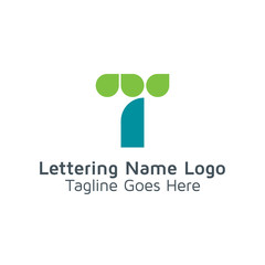 Lettering T Vector