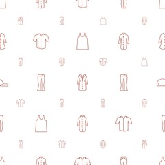 casual icons pattern seamless white background