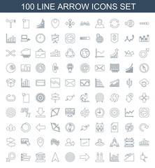 100 arrow icons