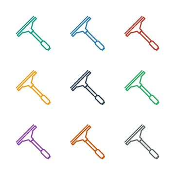 window squeegee icon white background