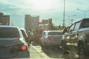 Fotomurales - traffic jam in the city