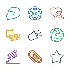 9 single icons