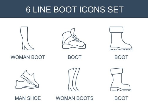 6 boot icons
