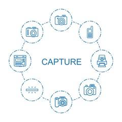 8 capture icons