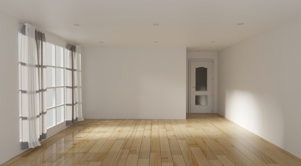 Empty room color of the Year 2019,3d rendering