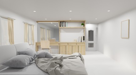 Modern livingroom interior design ,3d rendering