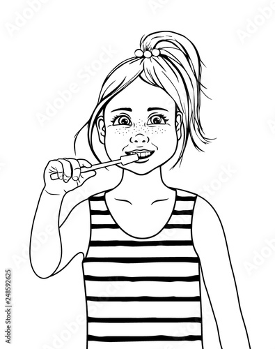 brushing hair coloring pages - photo#40